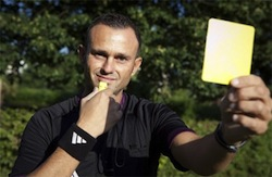De Belgische homoscheidsrechter Gabriel Papanikitas. Foto: Vandaag.be