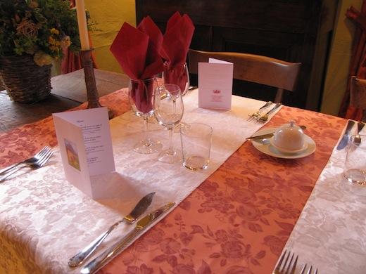 Gedekte tafel.