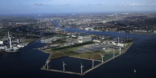 Het havengebied dat zal worden omgedoopt tot Eurovisie-eiland. Foto: DR.