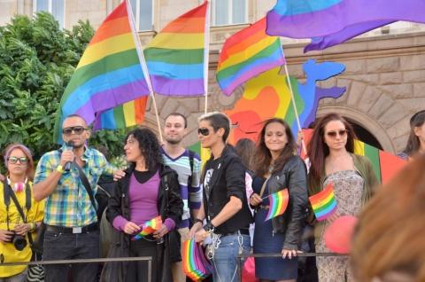 Demonstratie in Sofia. Bron foto: Offnews.bg.