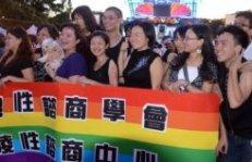 Demonstratie in Taipei. Bron foto: France 24