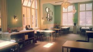Het zaaltje van de Evangelie Gemeente Utrecht. Bron foto: website Evangelie Gemeente Utrecht.