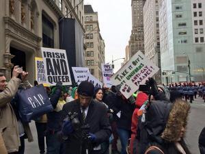 Protest st patricks day
