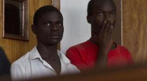 Jackson Mukasa (l) en Kim Mukisa (r)