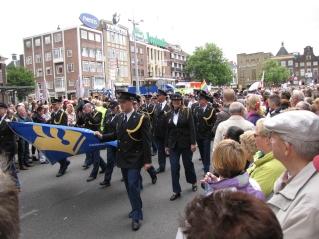 Politie tijdens Roze Zaterdag 2011 in Groningen