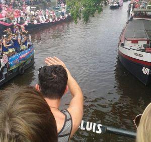 Canal Parade vanaf de brug