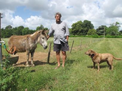 Laban met geit Geit en hond Choco