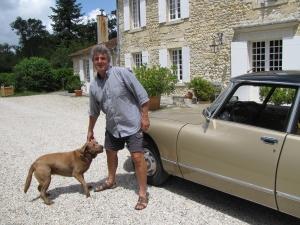 Laban van Oeveren met hond Choco