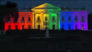 Witte Huis in regenboogkleuren