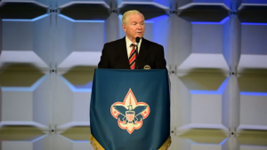 Boy Scout voorzitter Gates