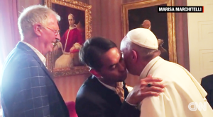 Paus ontmoet homostel
