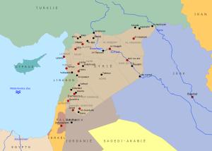 Syrië kaart