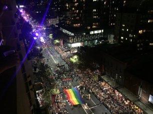 Mardi Gras regenboogvlag 2016