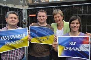 Oekrainse actievoerders enTanja Ineke