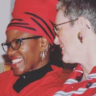 Marceline van Furth en Mpho Andrea Tutu facebook