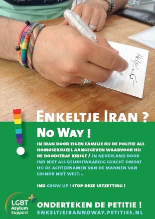 Enkeltje Iran No way! LGBT Asylum Support